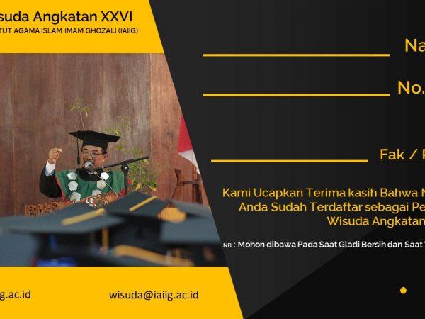 Info Wisuda Angkatan XVII - 2018