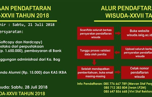Wisuda Sarjana Strata 1 - 2018